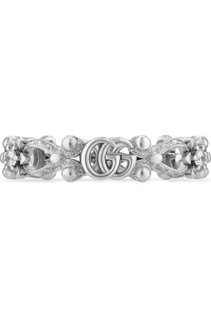 Gucci Women Rings - Flora 18k ring with diamonds