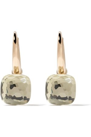 Pomellato 18kt rose & white gold Nudo prasiolite earrings