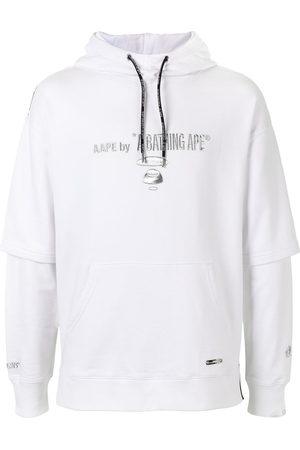 AAPE BY A BATHING APE Men Hoodies - Layered logo print hoodie
