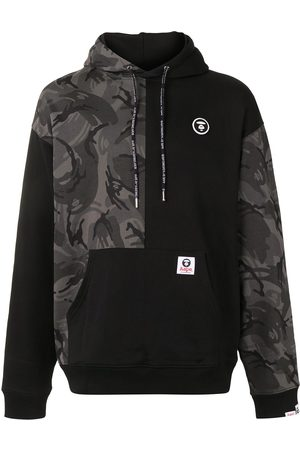 AAPE BY A BATHING APE Camouflage-print panelled hoodie