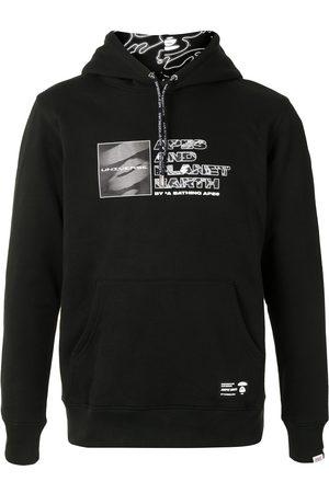 AAPE BY A BATHING APE Men Hoodies - Multi-logo print hoodie