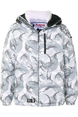 AAPE BY *A BATHING APE® Camouflage hooded padded jacket