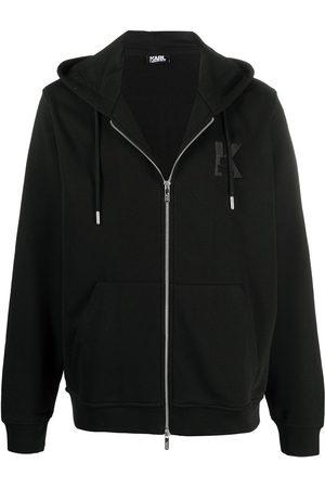 Karl Lagerfeld K embroidery zip-up hoodie