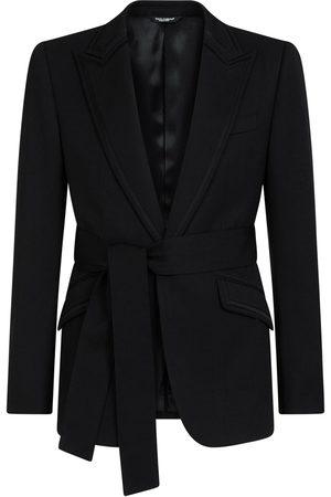 Dolce & Gabbana Men Blazers - Belted single-breasted blazer