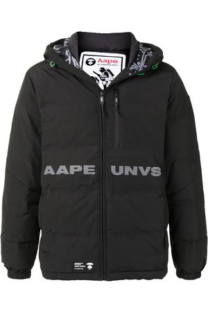 AAPE BY *A BATHING APE® Logo print hooded padded jacket