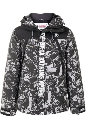 AAPE BY *A BATHING APE® Camouflage print hooded padded jacket
