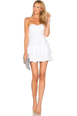 Amanda Uprichard Tiered Ruffle Dress in .