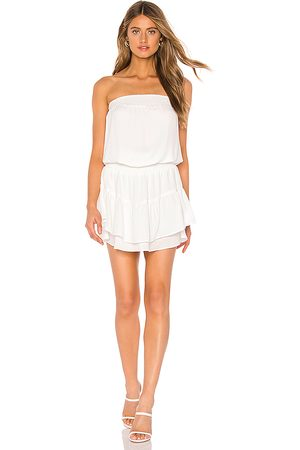 krisa Smocked Strapless Mini Dress in .