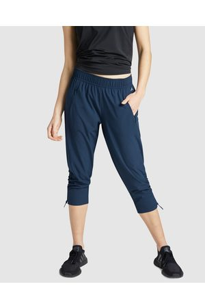 Rockwear Rouched 3 4 Pants - Pants (NAVY) Rouched 3-4 Pants