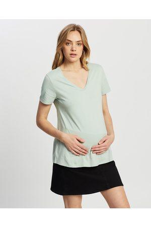 Isabella Oliver The Maternity V Neck Tee - T-Shirts & Singlets (Mint ) The Maternity V Neck Tee