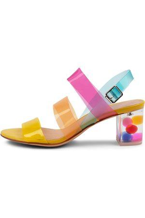 Django & Juliette Women Heeled Sandals - Skytles Dj Bright Multi Sandals Womens Shoes Dress Heeled Sandals