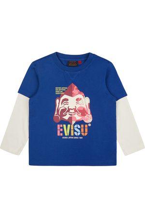 Evisu Color-blocking Godhead Print 2-in-1 T-shirt