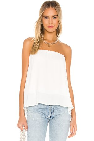 krisa Split Back Strapless Top in .