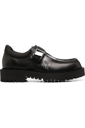 VALENTINO GARAVANI Flowersity leather buckle shoes