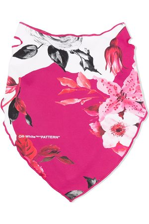 OFF-WHITE FLOWERS BANDANA MASK FUCHSIA NO COLOR
