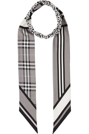 Burberry Scarves - Multi-pattern thin scarf