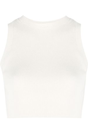 Cashmere In Love Ribbed-knit cropped top