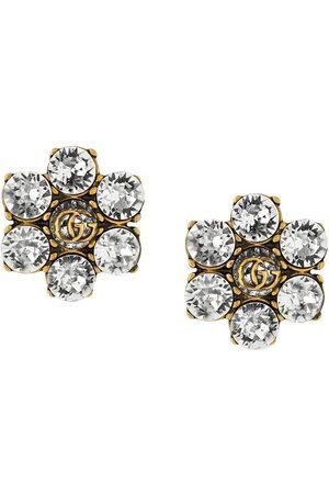 Gucci Women Earrings - Crystal-embellished Double G clip-on earrings