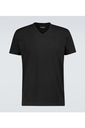 Tom Ford Marl jersey V-neck T-shirt