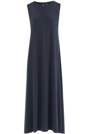 Norma Kamali Round-neck Jersey Dress - Womens - Dark