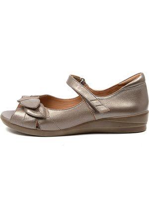 Ziera Women Flat Shoes - Disco W Zr Greige Sandals Womens Shoes Comfort Sandals Flat Sandals