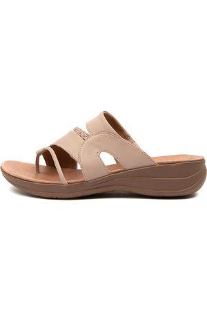 Portland Mia Pp Lt Taupe Sandals Womens Shoes Comfort Sandals Flat Sandals