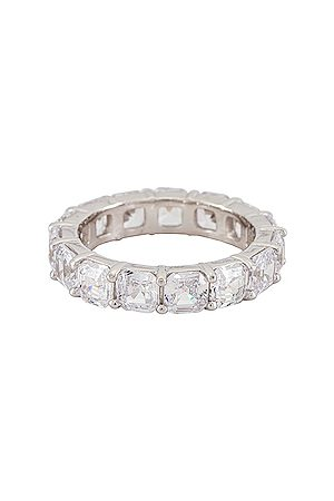 The M Jewelers Cushion Cut Eternity Band Ring in .