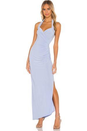 Norma Kamali X REVOLVE Halter Sweetheart Side Drape Gown in .