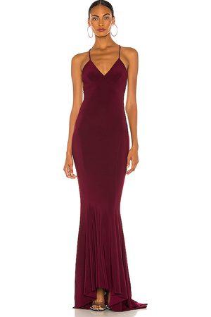 Norma Kamali X REVOLVE Low Back Slip Mermaid Fishtail Gown in .