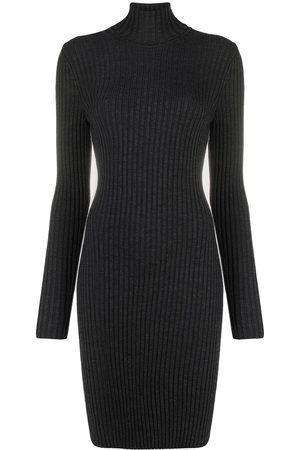 Wolford Women Knitted Dresses - Ribbed knit turtleneck dress