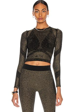 Wolford X Adidas Studio Motion Long Sleeve Crop Top in