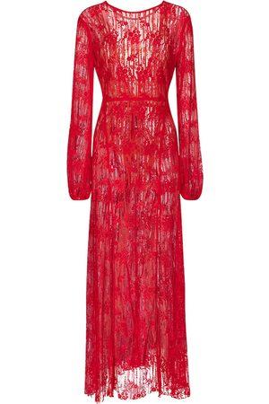 ROTATE Lisa cotton-blend lace maxi dress