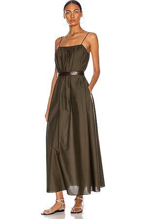 MATTEAU Voluminous Sun Dress in Thyme