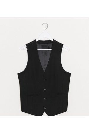 ASOS Tall skinny suit waistcoat in black