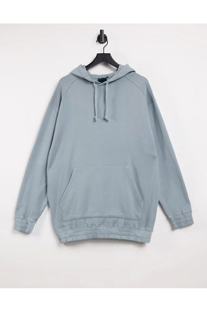 ASOS Oversized hoodie in washed blue grey