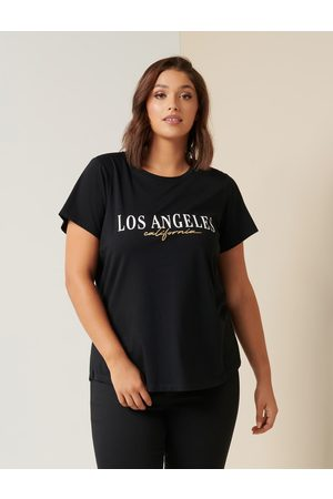 Forever New Women Short Sleeve - Lexi Curve California Graphic Tee