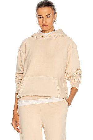 Les Tien Women Hoodies - Cropped Hoodie in Cream