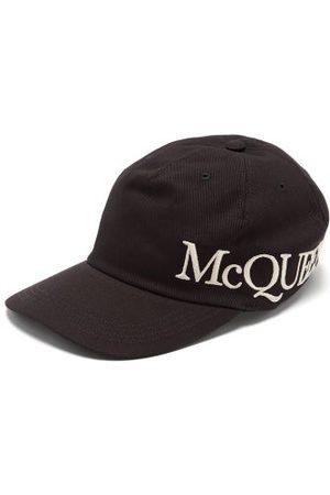 Alexander McQueen Men Caps - Logo-embroidered Cotton-canvas Cap - Mens