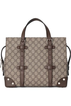 Gucci Men Tote Bags - GG tote with leather details