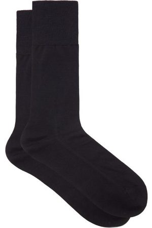 Falke Men Socks - No 4 Silk-blend Socks - Mens - Navy
