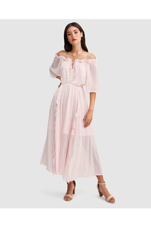 Belle & Bloom Amour Amour Ruffled Midi Dress - Dresses (Blush) Amour Amour Ruffled Midi Dress