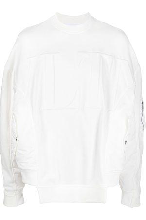 VALENTINO Men Sweatshirts - VLTN-embossed sweatshirt