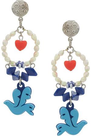 AMIR SLAMA Dove of peace earrings