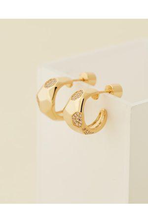 Jackie Mack Women Earrings - Moonlight Mini Hoops - Jewellery (18K ) Moonlight Mini Hoops