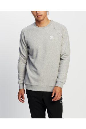adidas Essential Crew - Sweats (Medium Heather) Essential Crew
