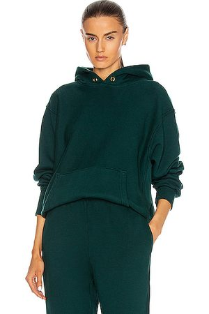 Les Tien Women Hoodies - Cropped Hoodie in Emerald