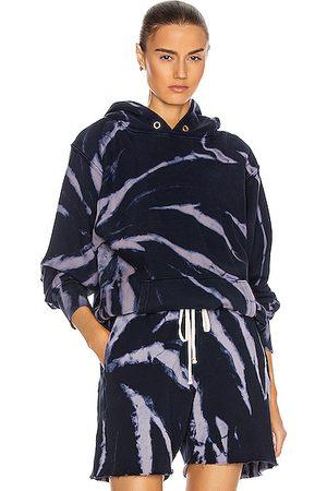 Les Tien Women Hoodies - Cropped Hoodie in Mauve & Navy