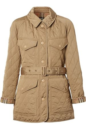 Burberry Women Winter Jackets - Quilted nylon canvas field jacket
