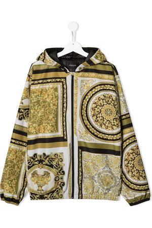 VERSACE Barocco-print hooded jacket