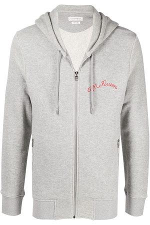 Alexander McQueen Embroidered-logo hoodie
